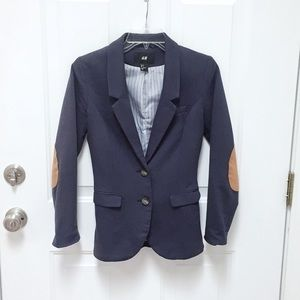 Blue Blazer with Elbow Patches
